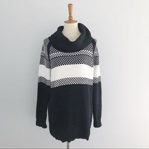 Calvin Klein Knit Striped Sweater Size Large